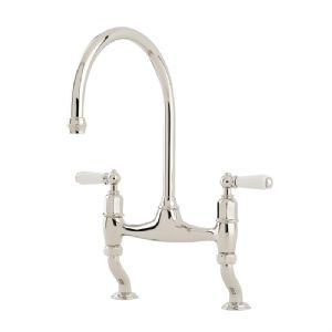 4193 Perrin & Rowe Ionian Two Hole Sink Mixer Tap With Lever Handles